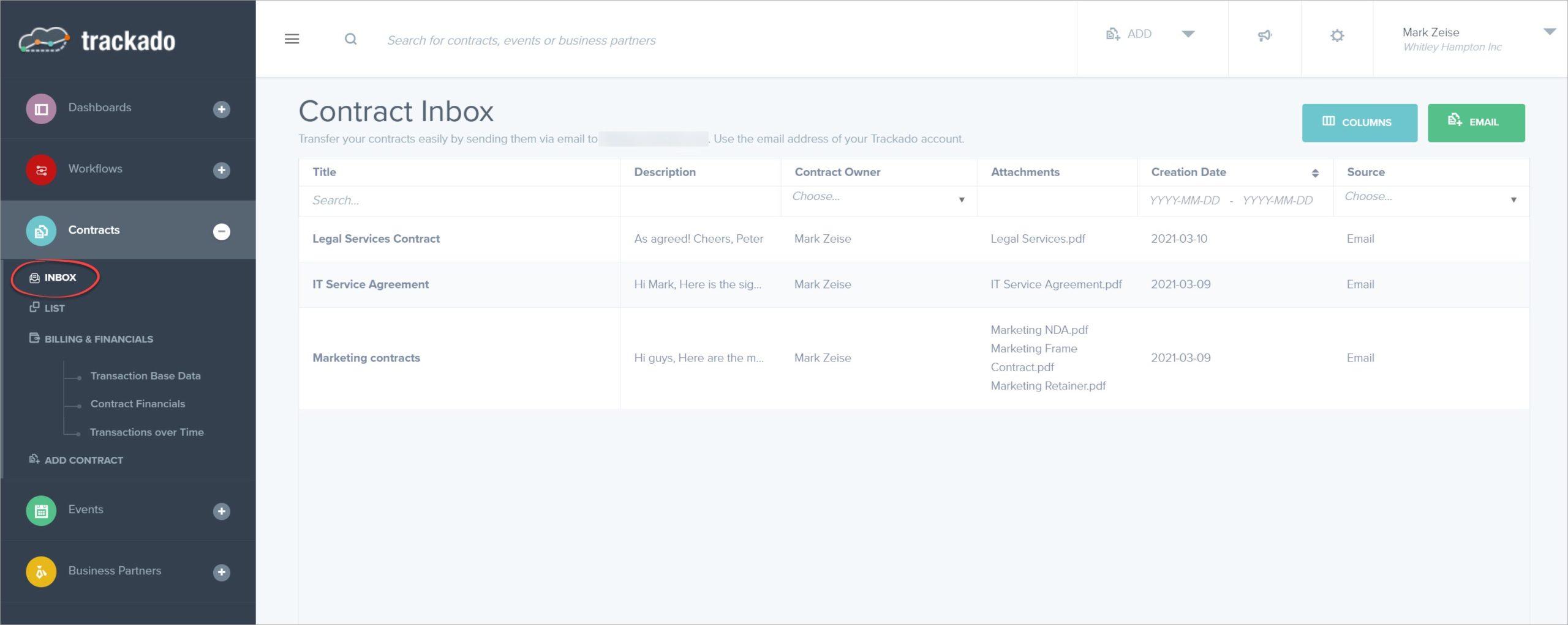 Contract Inbox